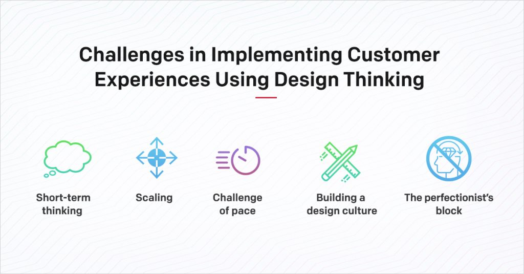 Challenges in implementing customer experiences using Design Thinking